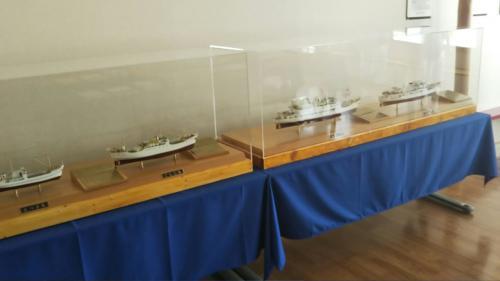 歴代の船の模型です