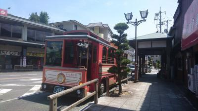 まずは、お昼ごはん。<br />バスセンターに向かいます。<br />途中でかわいいバスを発見^^
