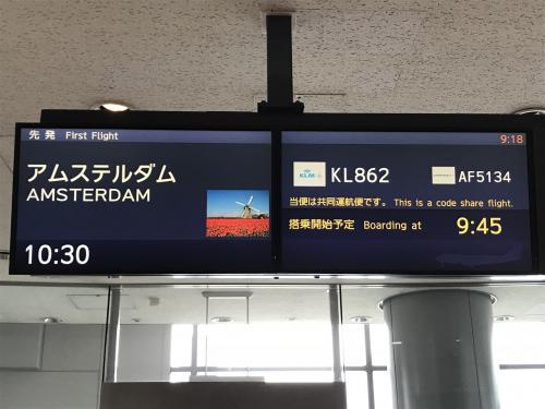 今年の夏休みはスペイン旅行へ。バスク地方が行先の中心になります。スペインへはアムステルダム経由で入国します。