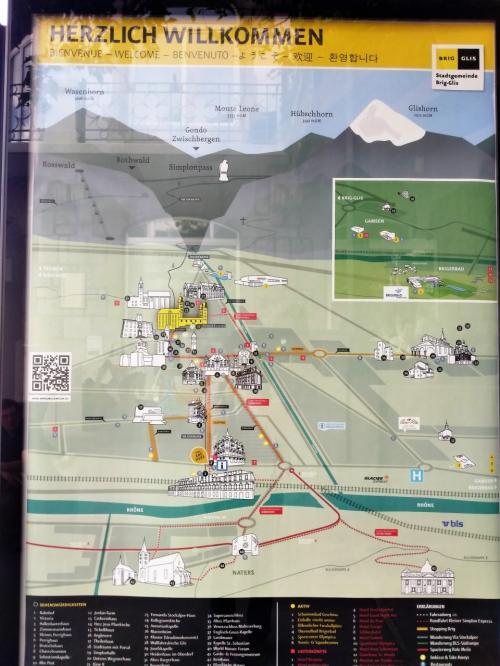 ブリークの観光マップ