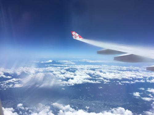 7/2 一路マレーシアへ 機内からの富士山を望む
