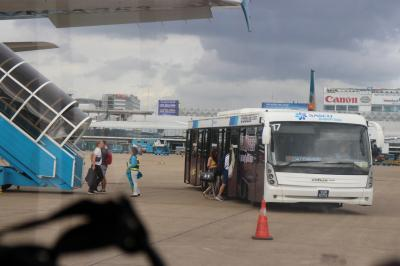 ニャチャンからホーチミンへ<br />ホーチミン空港ではバスで。