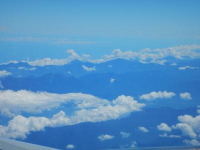 台湾上空です。
