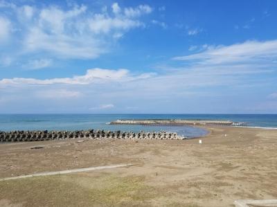 うーみー!<br /><br />最後のトイレ休憩は徳光PAにて。<br />日本海綺麗ですね~。