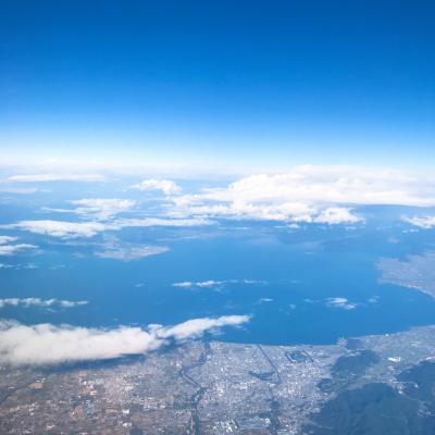 ■上空から琵琶湖が綺麗に見れました。