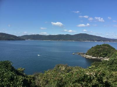新幹線の徳山駅で降りて<br />国民宿舎 大城   の お迎えマイクロバスで 笠戸島に向かいます<br />今日は とっても良い天気で<br />景色もバッチリです。<br />母も 久しぶりの日帰り旅です