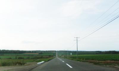 斜里町を過ぎて左へ。網走に立ち寄る時間は無く、内陸部に入ります。