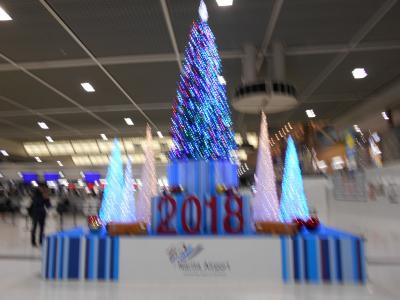 成田空港には、こんなに大きなクリスマスツリーが飾ってありました。<br />この時期に成田空港に来ることが殆どありません。