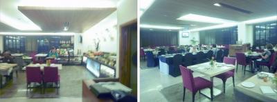 フォーポインツ・バイ・シェラトン シティスクエアH Four Points by Sheraton Jaipur, City Square<br /><br />(06:30)<br />シェラトンホテルのレストランです。<br />早い出発に合せ、早い朝食。<br />ツアーの仲間で、一緒の食事となりました。