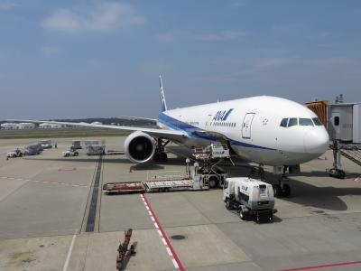 成田空港から出発。搭乗機はB777-300ER。