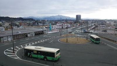 おはようございます。<br /> 時刻は8時10分頃、JR秋田駅東口付近に来ています。