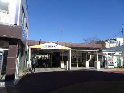 JR南武線宿河原駅から散策を始めます。<br />線路跡は改札口の反対側の多摩川方向にあります。