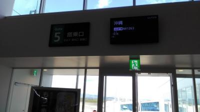 まずは静岡空港(FSZ/RJNS)から<br />那覇空港(OKA/ROAH)へ向かいます<br />便名:NH1263<br />機種:B737-800<br />機体番号:JA72AN<br />