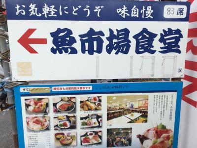 早川駅から徒歩10分位で市場到着<br />10時オープン15分前到着で20人弱の行列