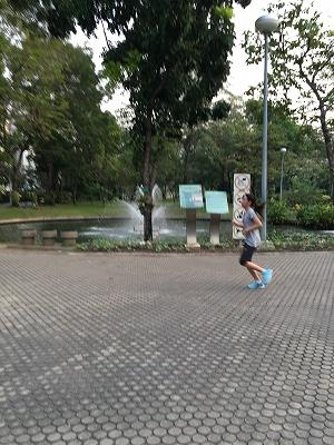2017年2月21日バンコクから成田へ<br /><br />朝ご飯をどこかで食べようと外に出る。<br />隣の公園に行ってみるとランニングの人が結構いる。<br />朝7時とはいえ、既に暑い。でも日中走ることを考えればマシな時間帯ということか。<br />