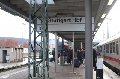 ■Samstag, 22. Dezember 2018<br /><br />午前中にハイデルベルクの観光をし、シュトゥットガルトに移動しました。<br /><br />○Tag 1. Düsseldorf ‐ Frankfurt - Heidelberg<br />●Tag 2. Heidelberg - Stuttgart <br />○Tag 3. Stuttgart - München - Augsburg<br />○Tag 4. Augsburg - Düsseldorf