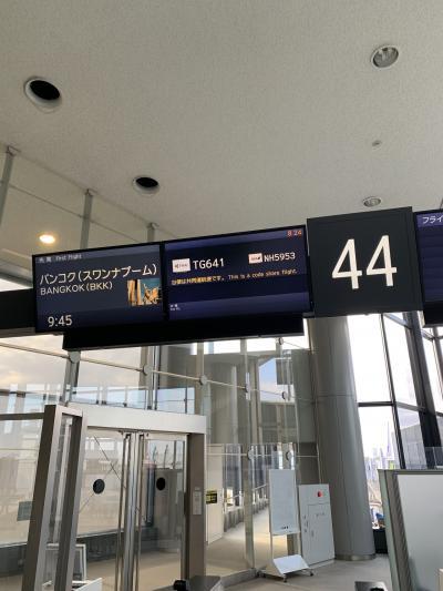 タイ航空641便<br />9時45分 成田空港発<br />15時15分 バンコクスワナプーム空港着<br />
