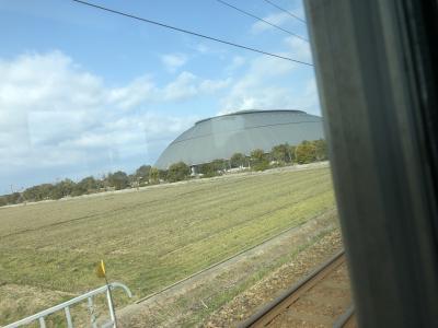 セントレアに向けて出発し電車で。<br />長浜ドームを見ながら、米原へ<br />米原から名古屋。