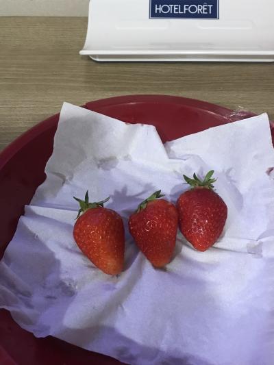 おはようございます!<br />目覚めの苺を食べました(o^^o)<br />でも昨夜あまり眠れなくて体調イマイチ。<br />一日フルで行動出来るかな?
