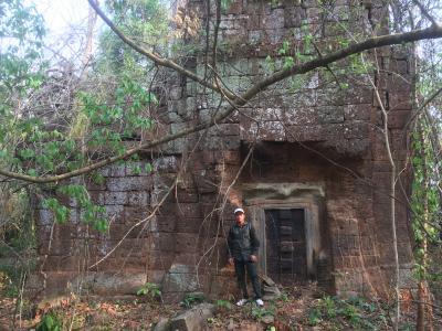 タノップ寺院の中央の本殿が特に保存状態がいい一部です。