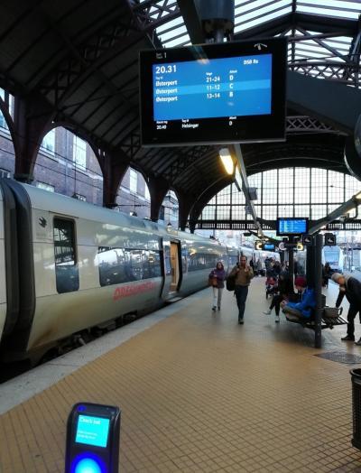 ヨーテボリよりコペンハーゲン中央駅に到着。