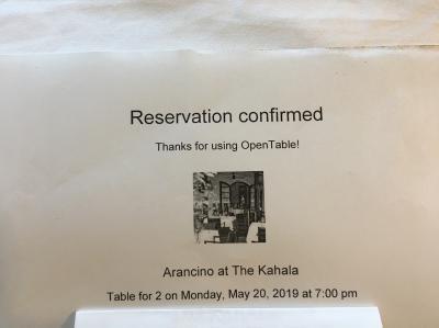 オープンテーブルで予約しました<br /><br />日本から簡単に予約できてとても便利です