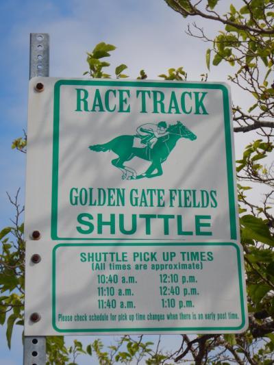 バス停に時刻表がありますが、実際はもっと本数が出ていますので、競馬場ホームページで確認してください。平日と休日では本数が異なるようです。