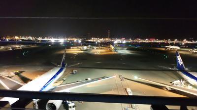 羽田空港を深夜2:25発のシンガポール航空で出発です。