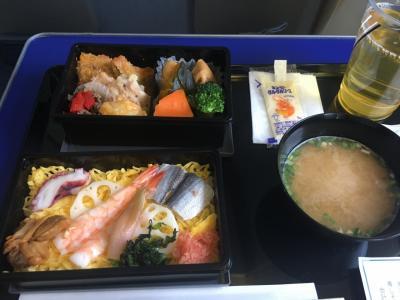 待ちに待った夏休み。<br />岡山から羽田へ。<br />お食事は岡山名物らしいバラ寿司でした。
