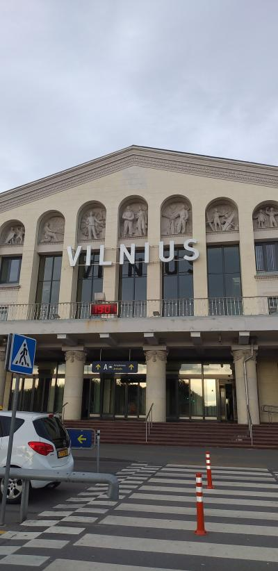 ビリニュスの空港が列車の駅みたいに小さくて、すぐに外に出てびっくり。