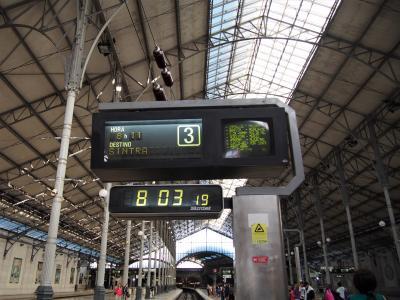 <ロシオ駅><br />リスボンからシントラまでは当日、フリーチケットを購入<br />