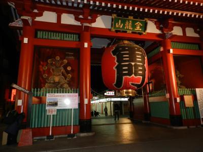 雷門って「風雷神門」ともいうそうです。 確かに、門の両側では風神雷神が見守っています。
