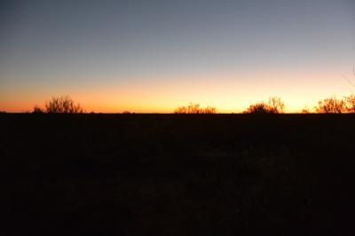 まだ東の地平線に太陽は登ってないです。