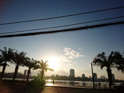 実質、最終日の朝です!<br />今日も快晴!気持ちの良い朝です♪<br />この景色とも今日でお別れです。
