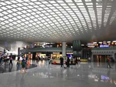 復路は北京経由で帰国するので、杭州空港では国内線ターミナルに。出国手続きはないのでのんびりです。開放感ありますね~