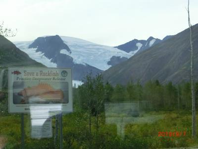 ウィティアが近くなると山に氷河がちらほら見えるようになりました。