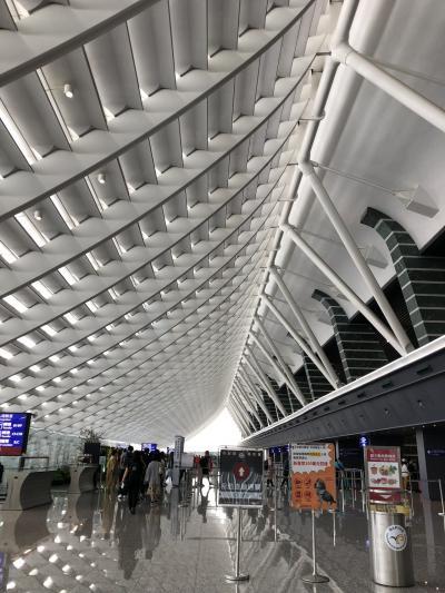 桃園空港!<br />綺麗ですよね~<br />一年間で三回台湾に入国すると申請すれば手に入る、常客証を片手に、イミグレを早く抜けることができました<br />右から二番目のゲートに並びます