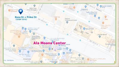 乗り場の地図、ご参考まで