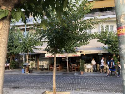 朝、船はピレウス港に到着。6時30分から下船が始まりました。<br />8時までには船を降りなくてはなりません。<br />朝食を食べてから船を降りて、アテネのホテルに向かいます。<br />マップを見ると、ピレウス港からアテネ市内まで地下鉄が走っている。<br />少しでも出費を抑えたい夫は「よし!地下鉄で行くぞ!」<br />しかし、<br />ピレウス港ってすごーく広い!<br />歩いて、歩いて、歩いて、3回くらい道を聞いて、<br />30分ほど歩いたような‥。やっとたどり着いた地下鉄。<br />ホテルのある地下鉄駅「アクロポリス」まで揺られて朝9時に到着。<br /><br />朝なのでスーツケースを預けて遺跡観光をするつもりでいたの、<br />親切な事に<br />お部屋に入ってOK!と。ラッキー!<br /><br />