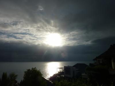 朝起きたときは少し太陽が出ていました