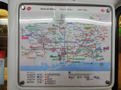 7:15<br />Liceu駅でメトロに乗って、