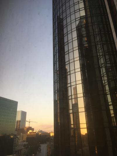 部屋の窓から。