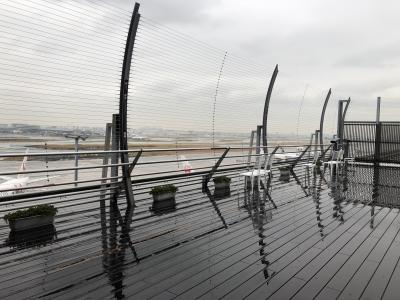 朝から雨がしとしと降る、旅の始まり。<br />羽田空港発石垣までの直行便は14:15フライト。<br />搭乗まで時間があったので、空港ビルをすみずみまで探検。<br />空弁片手に展望デッキに初めて着た。
