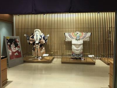 久しぶりの成田空港には、歌舞伎のコーナーも。