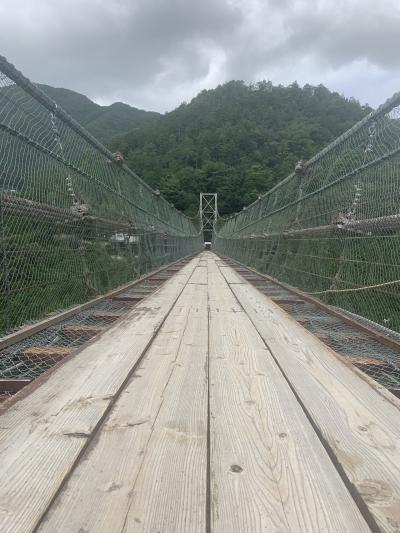 谷瀬の吊り橋 割と揺れます!