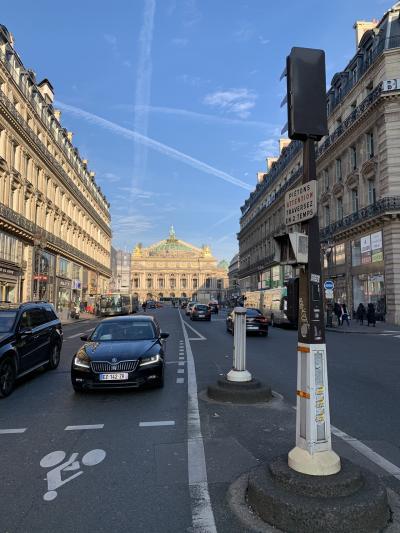 12月31日は、旅ステーションでの、パッサージュ巡りツアーに参加です<br />パリに来て初めてゆっくりの出発です<br />とはゆうものの、日本だろうがパリだろうが、朝の6時前には起きてるのですが<br />オペラ通りからオペラガルニエ宮の写真は何枚か撮りましたが、これが一番お気に入り!
