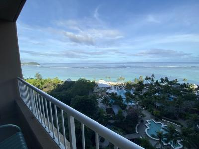 2月9日<br />ホテルの部屋のテラスから外を眺める<br />今日もいい天気 暑くなりそう