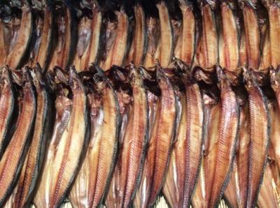 北海道の魚介が揃う市場。<br />ほっけがずらりと並んで、なんか壮観!