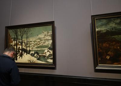ここに来るのを夢見ていたブリューゲルの展示室。現存する(油絵)作品が40数点のピーテル・ブリューゲル(父)。そのブリューゲル(父)の作品が12点収蔵され、世界一を誇っています。