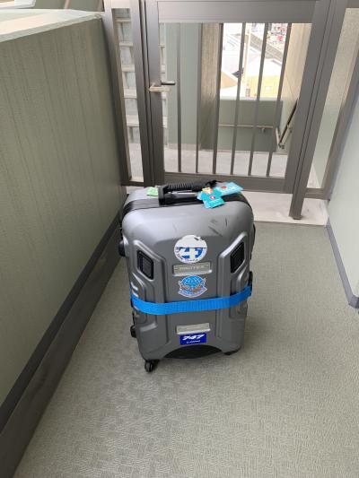 いつものスーツケースでハワイに向け出発です